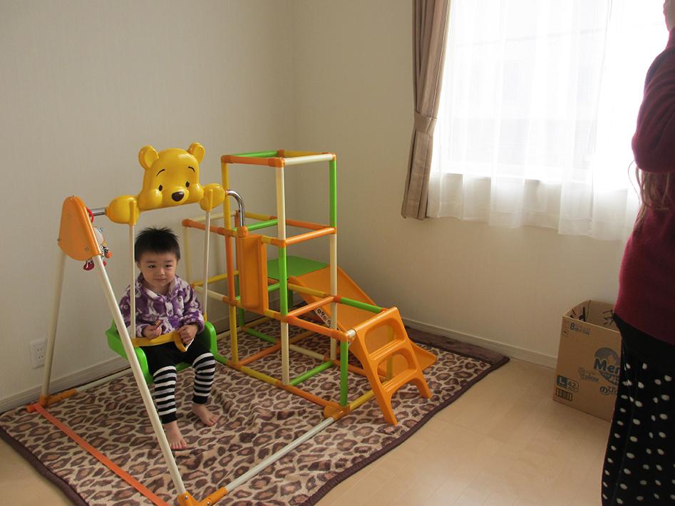 2階の子供室は僕だけの遊び場。