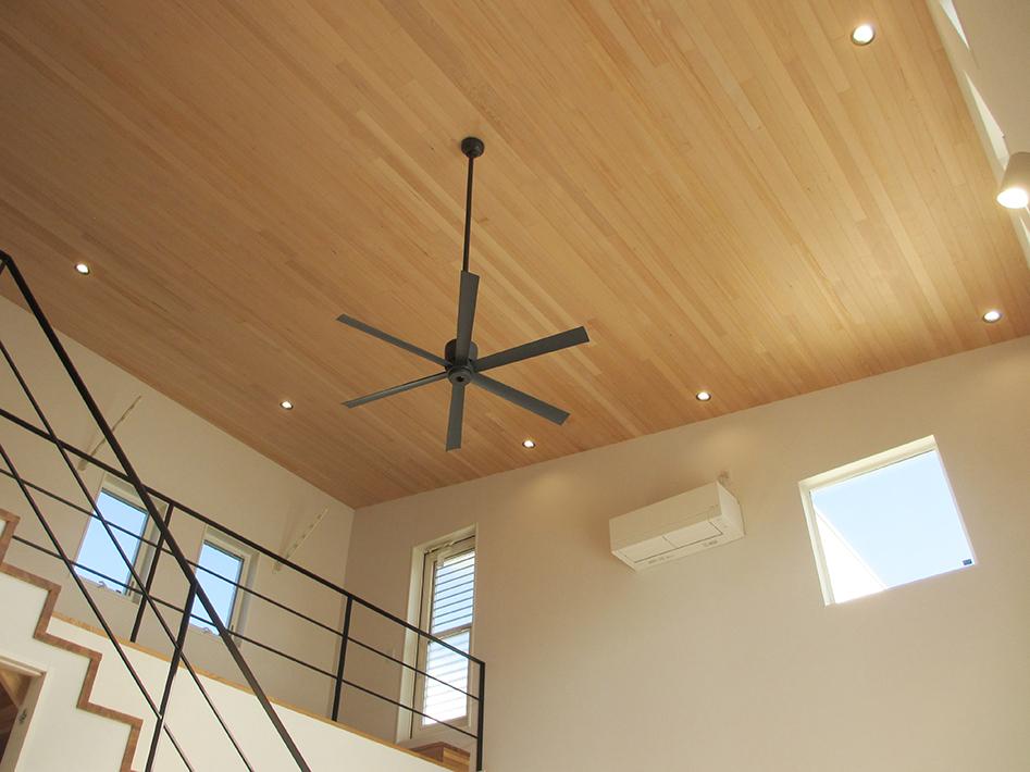 リビングから見上げた天井。