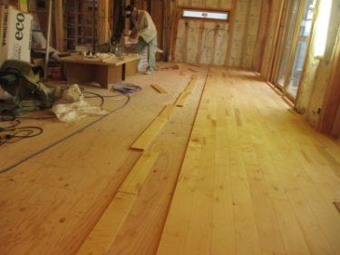 バーチ無垢材の床
