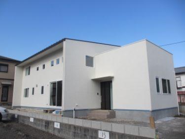 ネット・ゼロ・エネルギー・ハウス仕様の家 外観・玄関・手洗い場
