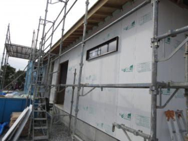 外壁側の耐震パネル