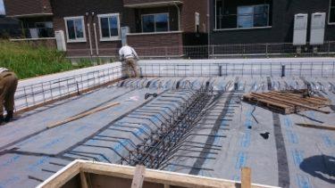 「人生二度目に建てる家」基礎工事