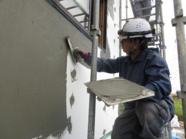 外断熱塗り壁工事