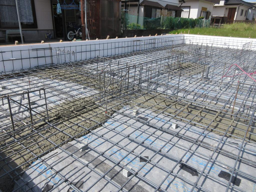 耐震等級3の配筋 地中梁