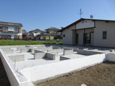 耐震等級3の基礎工事が始まりました。