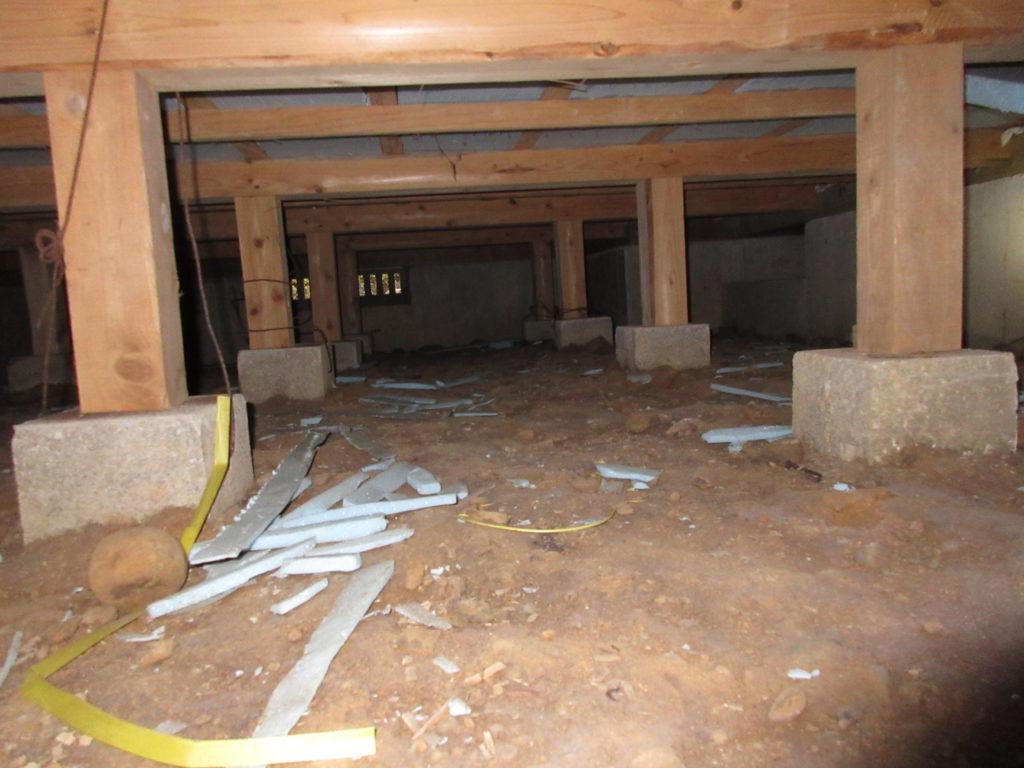 浴室リフォーム前に床下の点検